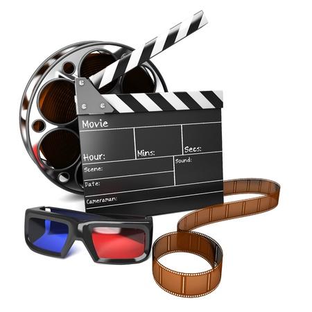 the 3d: 3D Movie Foto de archivo