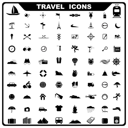 trees services: Travel Icon Illustration