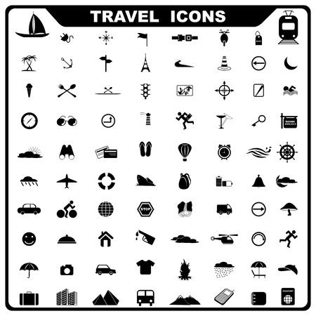 service tree: Travel Icon Illustration