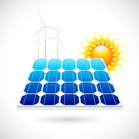 windfarm: Power Panel Solar Vettoriali