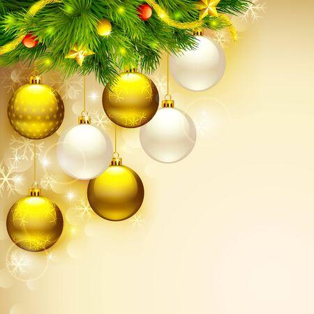glitter ball: Elegant Christmas Background
