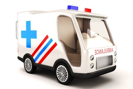 disaster relief: Ambulance Stock Photo