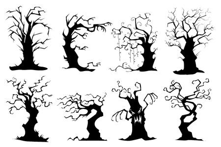 gruselig: Sammlung von Baum-