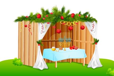 jew: Decorated Sukkah