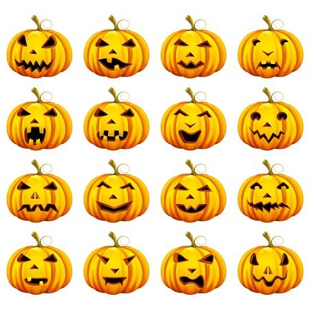 Halloween-Kürbis in verschiedenen Mood