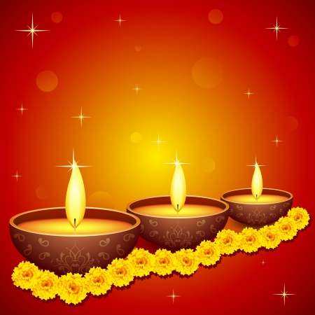 Holy Diya for Festival Stock Vector - 15470296