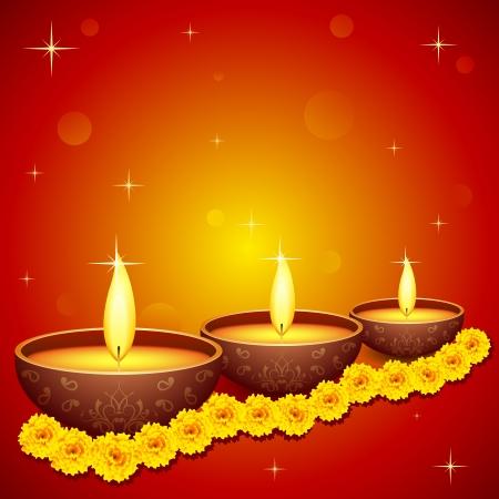flower lamp: Holy Diya for Festival