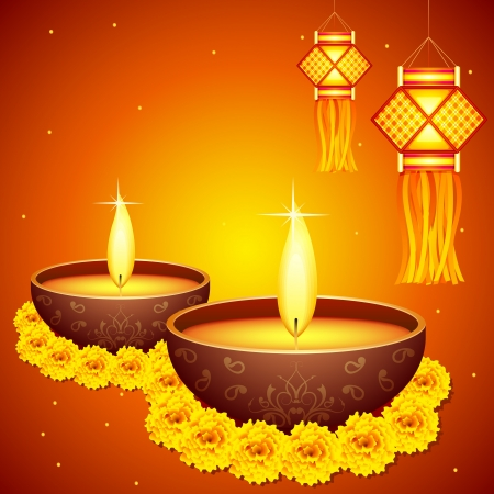 dipawali: Diwali Decoration Illustration