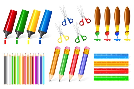 Office Stationery Stock Vector - 15470256
