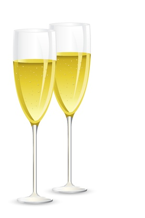 Pair of Champagne Glass Stock Vector - 15470292