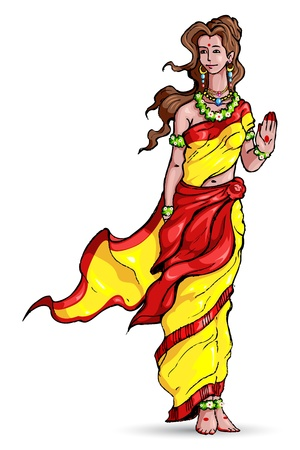 ramayana: Goddess Sita Illustration