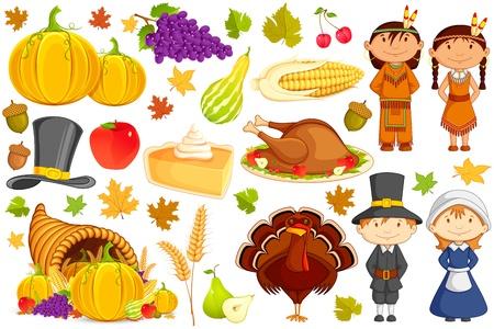 thanksgiving day symbol: Ringraziamento Collezione Vettoriali