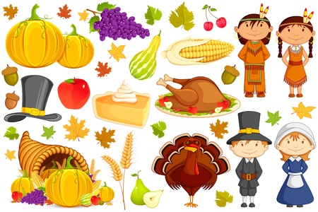 thanksgiving turkey: Thanksgiving Collection Illustration