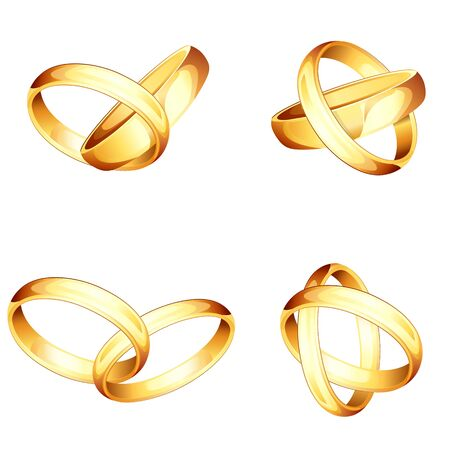 wedding accessories: Collection of Engagement RIng Illustration