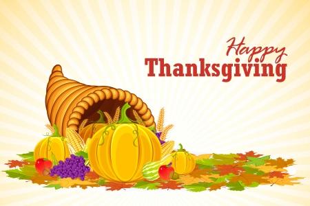 cuerno de la abundancia: Thanksgiving Cornucopia