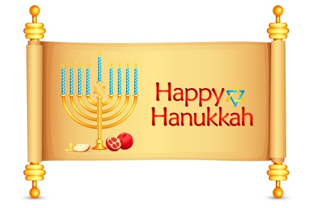 illustration of manorah wishing Israel New Year Vector