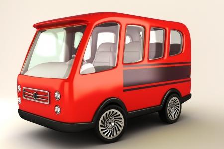 tourist bus: Mini Bus Stock Photo