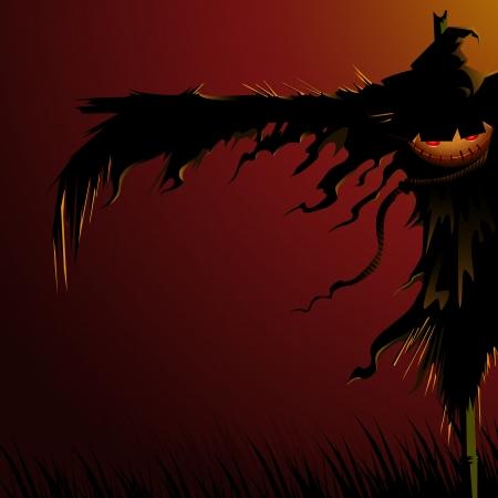 scarecrow: Scary Scarecrow Illustration