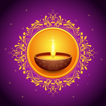 Holy Diya for Festival Stock Vector - 15730338