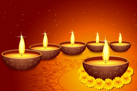 Holy Diya for Festival Stock Vector - 15730764
