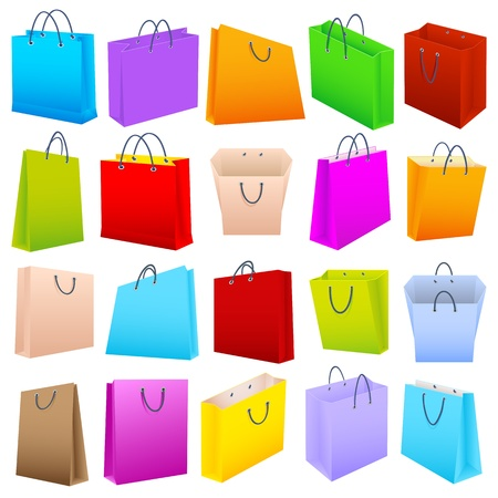 plastic container: Colorful Shopping Bag