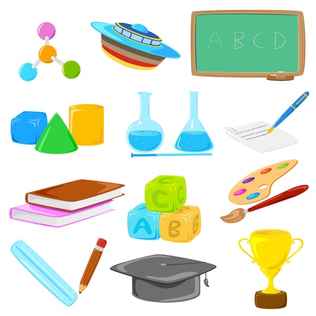 illustration of collection of education object Stock Vector - 16015332