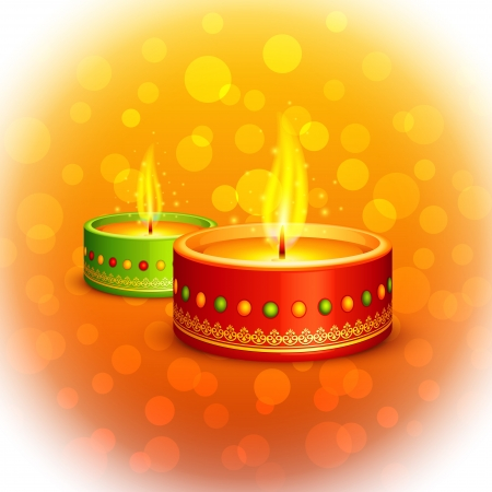 dipawali:  illustration of holy diya for Diwali festival Illustration