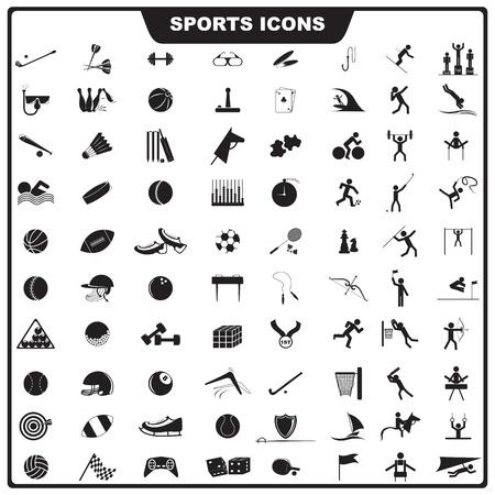 fitness equipment:  illustration of set of sport icon