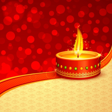deepawali: Diwali Diya Illustration