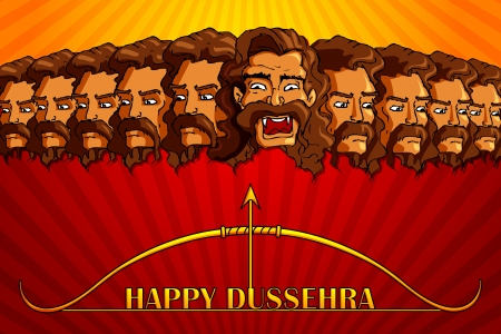 Happy Dussehra Illustration