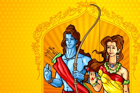 Rama and Sita Vector