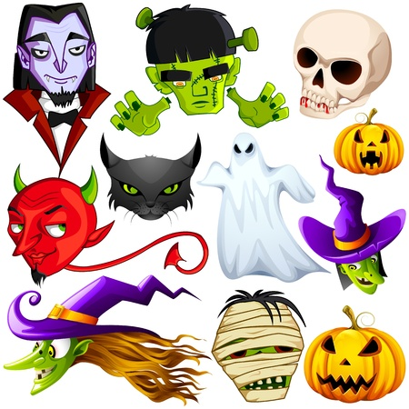 witch face: Halloween Character Illustration
