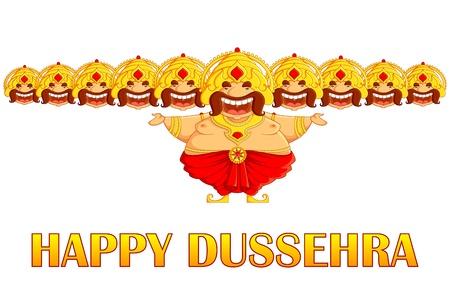 dussehra: Ravana in Dussehra Illustration