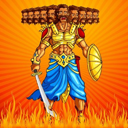 indian god: Burning Ravana in Dussehra