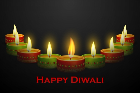 deepawali: Diwali Diya decoration Illustration