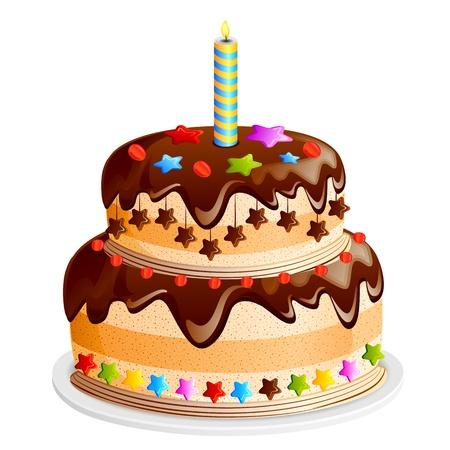 decorated cake: Yummy Cake Illustration