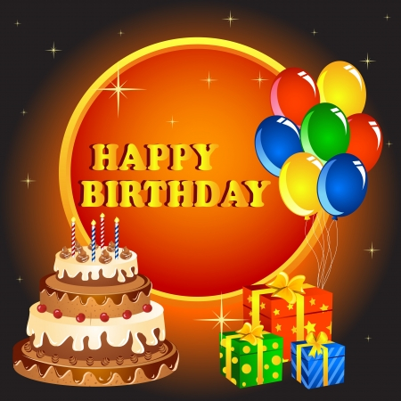 Birthday Greeting Vector