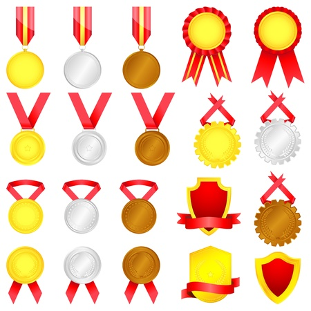 award winning: Medal set Illustration
