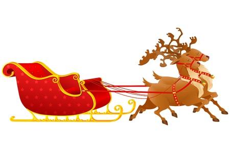 papa noel en trineo: Navidad trineo