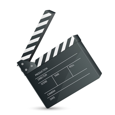 Filmset Clapper Stock Vector - 16235295
