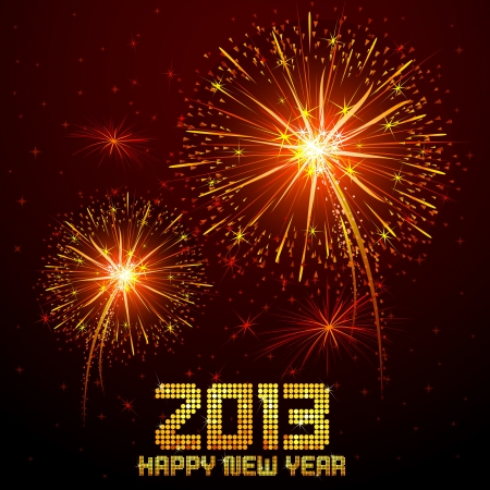 New Year Firework Stock Vector - 16235309