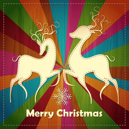 Christmas Rreindeer Couple Vector