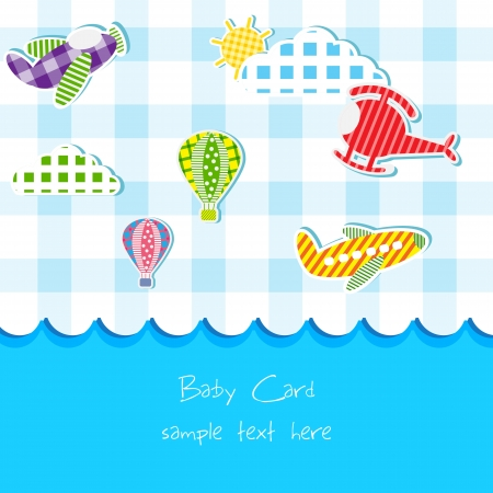 Toy in Baby Announcement card Vector
