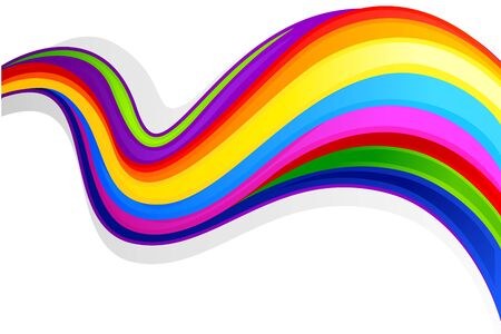 Colorful Swirly Background Vector