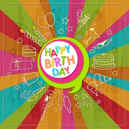 cake paper: Happy Birthday