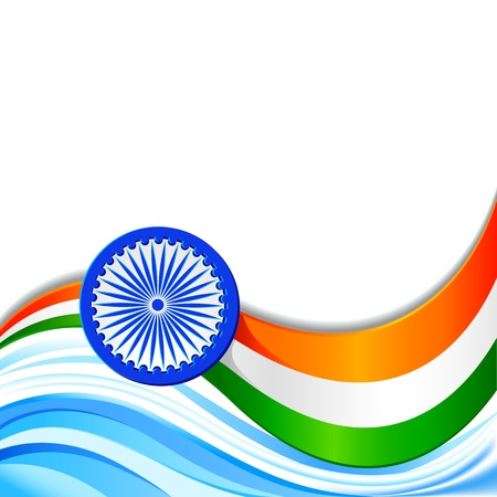 asoka: Indian Tricolor Background
