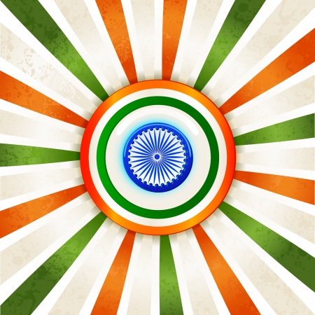 Indian Tricolor Background Stock Vector - 17017785