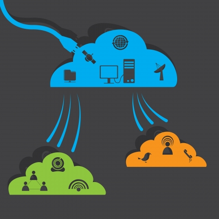 computer support: Network cloud Illustration