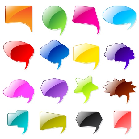 Colorful Chat Bubble Stock Vector - 17604383