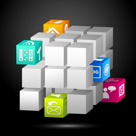 Media Cube Stock Vector - 17604419